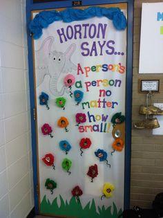 Dr Seuss' celebration, classroom door decorations