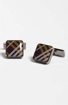 Burberry Enameled Square Cuff Links