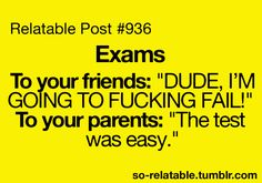 funny true true story tests school exams i can relate so true teen ...