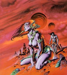 A gallery of Philippe Caza cover art for J'ai Lu French-language editions of science fiction classics by Isaac Asimov, Rovert Silverberg, A. Sci Fi Kunst, Science Fiction Kunst, Art Visionnaire, Sci Fi Comics, Fantasy Illustration, Horror, Pulp Art, Fantastic Art, Sci Fi Fantasy