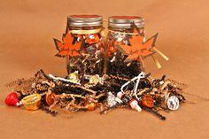 DIY Fall Party Favor Idea - Mason Jar and Candy  http://www.jampaper.com/blog/diy-fall-party-favor/#! Fall Party Favors, Halloween Baskets, Pumpkin Carving Party, Fall Crafts, Halloween Crafts, Halloween Foods, Halloween Stuff, Halloween Ideas, Fall Recipes
