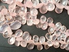 Rose Quartz Beads Rose Quartz Faceted Pear Beads by gemsforjewels
