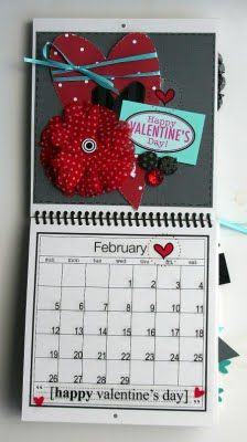 @Elizabeth Carney created this wonderful Calendar using SRM's 6 x 6 calendar, calendar months, calendar numbers and other assorted SRM Stickers.  February