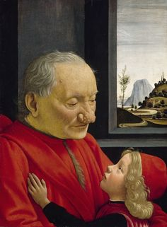 An Old Man and his Grandson[3] (ca. 1490) Tempera on wood, 62 x 46 cm. Louvre, Paris by Domenico Ghirlandaio.