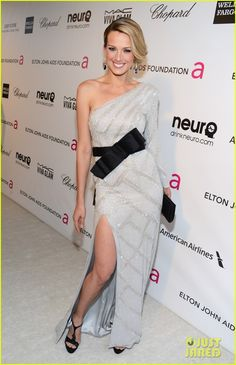 Petra Nemcova - Elton John Oscars Party 2013 Petra, 33, rocked a Ralph and Russo dress, Chopard jewels, and Salvatore Ferragamo shoes and bag.