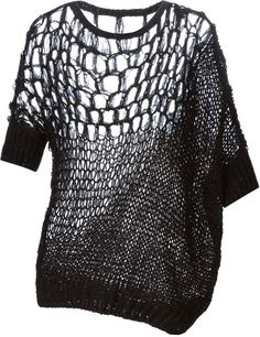 Contemporary Knitwear - open knit sweater with contrasting panels // A.F. Vandevorst