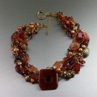 Square Carnelian Beaded Gemstone Necklace. Experience the luxury   http://www.johnsbrana.com/carnelian-necklace-square.html  $1,030.00