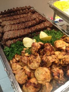 Delicious Persian chicken Kabab and Koubideh.