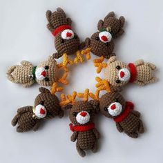 Christmas reindeer amigurumi brings happiness to its owner! Make small Christmas gifts for your loved ones. This easy free amigurumi pattern will help you!