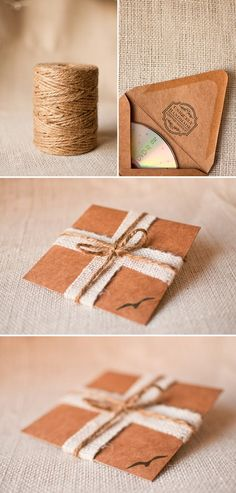 Awesome packaging for CD favor using a brown envelope!