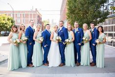 Bride & Groom with their Bridal Party. Bridesmaid Dresses, Wedding Dresses, Bride Groom, My Photos, Wedding Photography, Bridal, Party, Fashion, Bridesmade Dresses