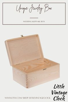 Here is a larger box with lid, made of wood with high aesthetic value, beautiful color and natural fragrance. #BoxPhotography,#bigwoodbox,#woodenalbumbox,#rawwoodenbox,#photopackaging,#weddingkeepsakebox,#woodenboxwithlock,#boxwithhingedlid,#roundedcorners,#roundedcornerboxes,#uniquejewelrybox,#mensjewelrybox,#engravedjewelrybox Wedding Keepsake Boxes, Wedding Keepsakes, Wedding Boxes, Wooden Gifts For Her, Unfinished Wood Boxes, Wooden Box Designs, Engraved Jewelry Box, Wooden Man, Aesthetic Value