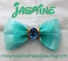 Disney's Jasmine from Aladdin Inspired Bow by FrostedDonutDesigns, $9.00
