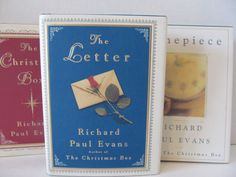 Richard Paul Evans Books - Set of 3 - Timepiece, The Letter, The Christmas Box by CellarDeals on Etsy