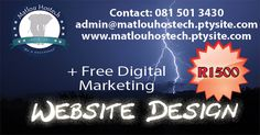 """Don't watch the clock; do what it does. Keep going."" Have a stunnning looking Website for only R1500."