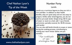 Chef Nathan Lyon Weekly Tip Forty