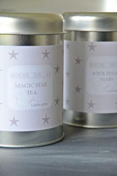Teedosen mit Sternen