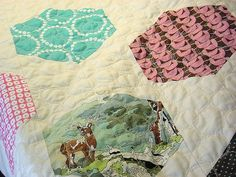 Pinwheel Quilt and Pebbles Free Motion Quilting