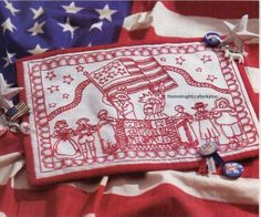 We The People Quilt Pattern Pieced/Redwork/Embroidery JB Patriotic Quilts, Miniature Quilts, We The People, Quilt Patterns, Finding Yourself, Coin Purse, Miniatures, Embroidery, Sewing