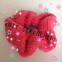 Knitted scrunchie, free pattern