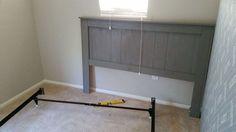 diy queen headboard for 35, bedroom ideas, painted furniture