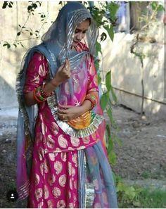 Traditional Wedding, Traditional Dresses, Rajasthani Dress, Bridal Dupatta, Rajputi Dress, Indian Princess, Hand Work Embroidery, Baby Shower Dresses, Royal Dresses