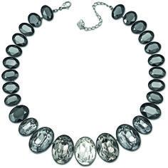 "Swarovski ""Voy"" Necklace   #Swarovski #Jewelry #Crystals #Necklace #Blackandwhite #BlackCrystals #FallWinter2013 #MarianaCarmona #JewelleryDesigner"