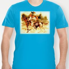 Horses and People No.1 T-shirt by Vargamari - $ 22.00 - Watercolor from the Horse-series