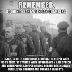 It started with a leftist socialist party electing a charismatic leader, confiscating guns, and blaming a particular race for all their problems, you ignorant wretch