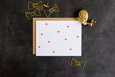 XOXO Love Letterpress Card  Perfect Valentine's Day by ChezGagne