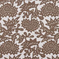 Flower in Shiitake from @LuRuHome #textiles #fabric #cotton #linen #floral #brown