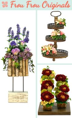 Blokberken is a rustic design with a base of distressed wood, steel rods and folded birch filled with lavender, cornflower, lisianthus and hydrangea.