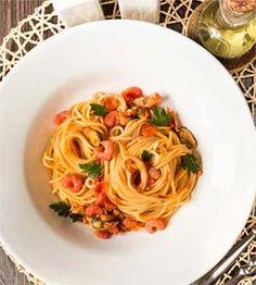 Seafood Pasta with Tomato Sauce recipe