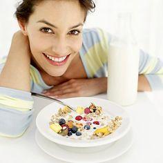 Avena comer para el desayuno