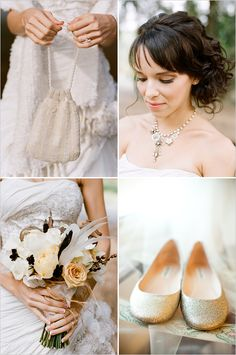 gold wedding shoes flats!!