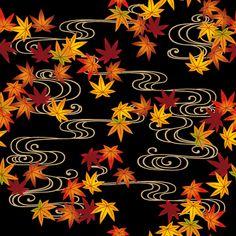粋屋-日本の伝統文様と伝統色 楓・紅葉文様 Japanese Patterns, Japanese Fabric, Kitsune Mask, Different Kinds Of Art, Urban Fabric, 1 Gif, Kimono Pattern, Vanitas, Halloween Projects