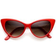 Hot Tip Pointed Vintage Cat Eye Sunglasses 8371