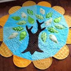 The Tree Hugger Baby Play Mat quilt - how to