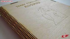 Okładka na książkę, laser cut book cover