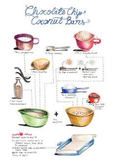 illustrated recipes - kayla king   artist. illustrator. creative force.