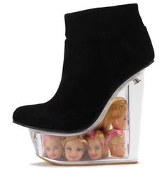 jeffrey campbell barbie shoes | barbie shoe Would You Wear These Boots With Floating Barbie Heads In ...