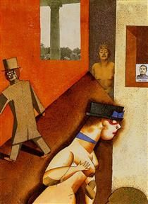 Life Model - George Grosz Pictures At An Exhibition, Jean Arp, Max Ernst, Painting Collage, Art Database, Visionary Art, Portraits, Art Projects, Illustration Art