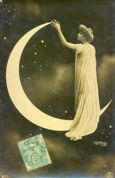 My Little Time Machine - maudelynn: Wonderful 1900s Woman on the Moon...