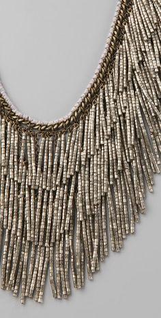Lee Angel Jewelry Yasmine Necklace with Beaded Fringe