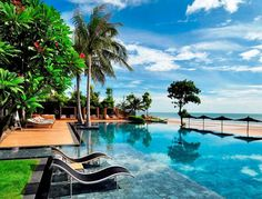 A pool at the beach