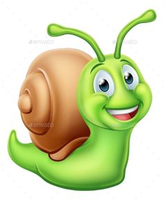 Buy Snail Cartoon Character by Krisdog on GraphicRiver. A snail worm cute cartoon character mascot Bug Cartoon, Snail Cartoon, Cartoon Elephant, Cute Cartoon Characters, Cartoon Styles, Stone Crafts, Rock Crafts, Animal Drawings, Cute Drawings