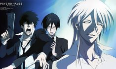 Tags: Scan, Official Art, PSYCHO-PASS, Kougami Shinya, Ginoza Nobuchika, Makishima Shougo