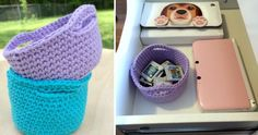 Simple Crocheted Mini Baskets [FREE Crochet Pattern]