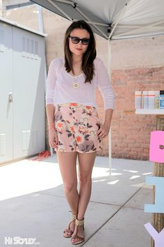 High waisted floral shorts inspiration for under $100