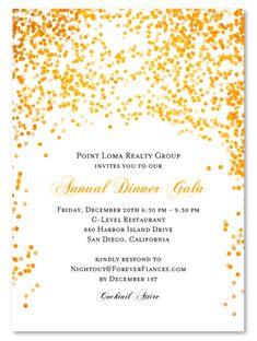 Gala Invite   Fundraising    Gala Invitation Event